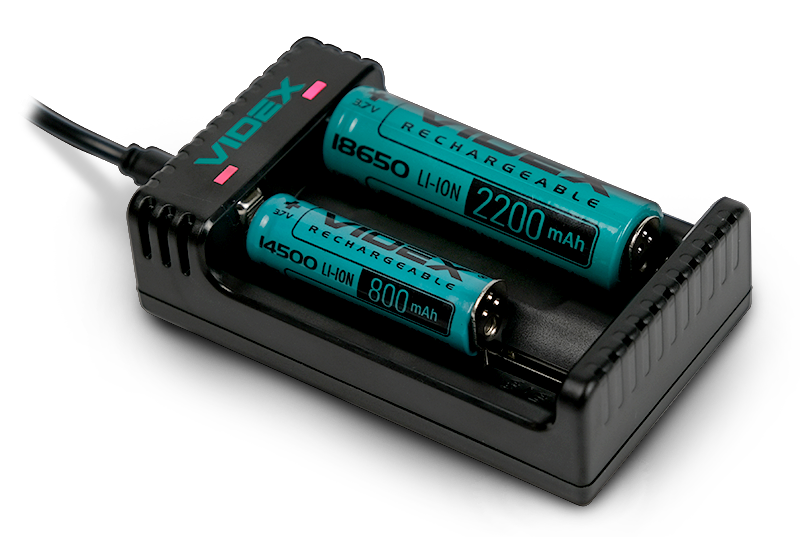 Зарядное устройство VIDEX VCH-L200 с аккумуляторами