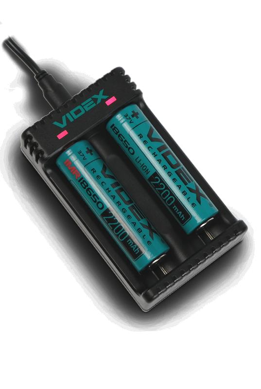 Зарядное устройство VIDEX VCH-L200 в работе