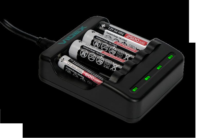 Зарядное устройство VIDEX VCH-N400 с аккумуляторами