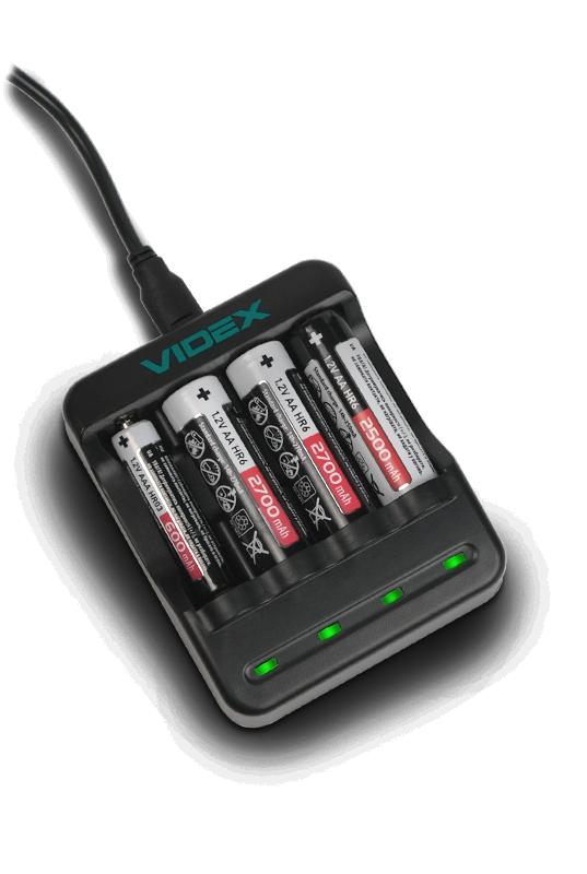 Зарядное устройство VIDEX VCH-N400 в работе
